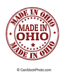 Made in Ohio stamp - Made in Ohio grunge rubber stamp,...