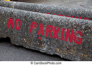 No Parking Sign close up