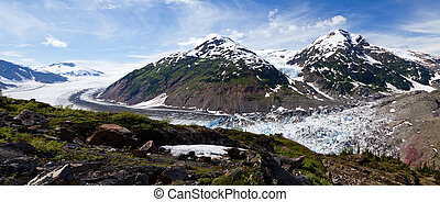 Salmon Glacier at Hyder Alaska