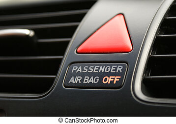 Concept passanger airbag off - Passanger airbag warning to...