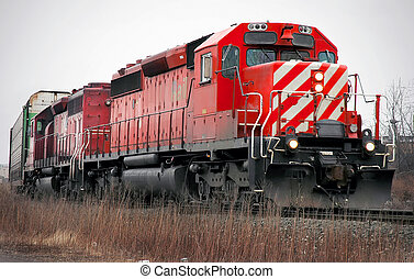 Detroit Auto Trains - Trains with automotive materials in...