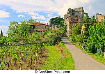 Tuscany, vila