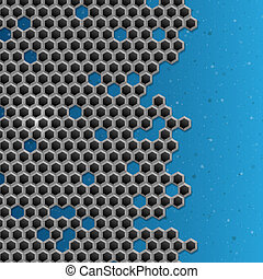 Hexagon Metal Background.