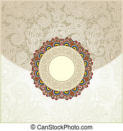 Ornate floral background. Invitation to the wedding or...