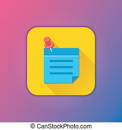 Vector Sticky Note Icon
