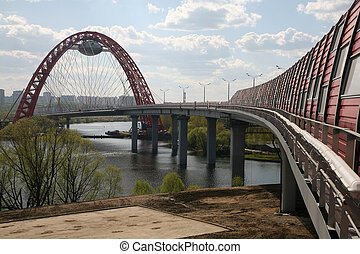 Zhivopisny bridge in Moscow - The new unique bridge in...
