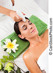 Woman Getting A Face Treatment - Young Woman Getting A Face...