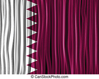 Qatar Flag Wave Fabric Texture Background - Vector - Qatar...