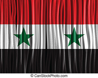 Syria Flag Wave Fabric Texture Background - Vector - Syria...