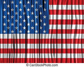 USA Flag Wave Fabric Texture Background