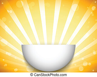 Half Open Circle with Yellow Stripes - Vector - Half Open...