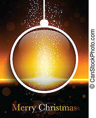 Merry Christmas Ball Laser Neon - Vector - Merry Christmas...