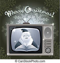 Message from Santa - Illustration with Santa Claus who reads...