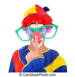 joker, à, rigolote, lunettes
