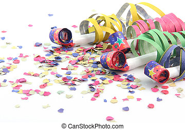 party blowers - party concepts paper confetti with streamers...
