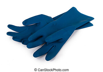 Latex Gloves for Cleaning - Blue latex gloves for cleaning,...