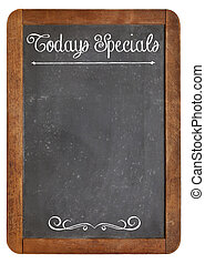 Today Specials on blackboard