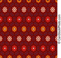 seamless chinese floral pattern
