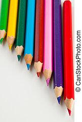 Multicolor wooden pencils - Colorful wooden pencils