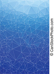 Blue ice abstract background polygon. Geometric backdrop.