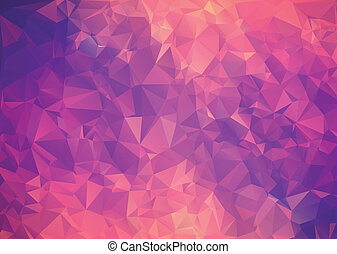 Purple pink abstract background polygon.