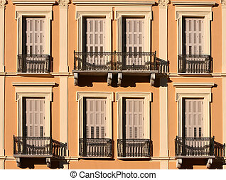 noclassical building - front view of noeclassical building...