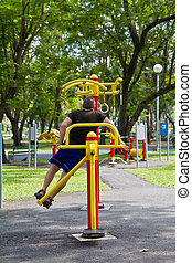 Exercise tool in the park