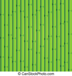 Bamboo background. Green seamless composition.
