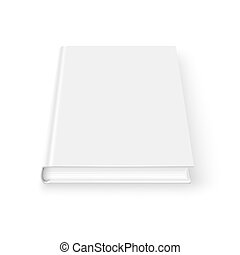 Blank book template. - Blank book cover template on white...