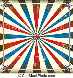 Patriotic square background - A square vintage poster for...