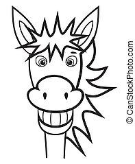 donkey black and white