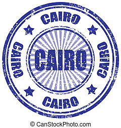 Cairo-stamp - Grunge rubber stamp with word Cairo,vector...