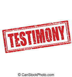Testimony-stamp - Grunge rubber stamp with word...