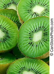 Food Kiwi Fruit slices close-up