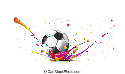 tor9a - illustration of a football and colors all around