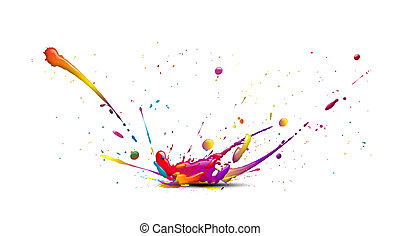 Splash10d - abstract illustration of a color explosion or...