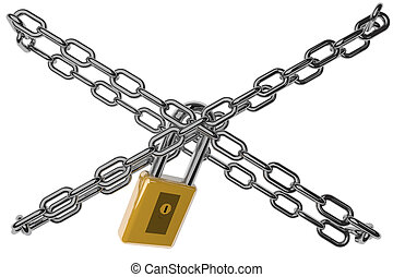Lock and chains