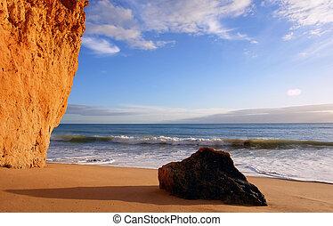 Beach scenario - Algarve beach scenario...