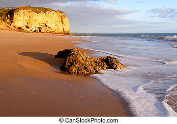 Beach scenario - Algarve beach scenario, Portugal...