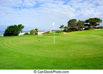Beach and golf coastal scenario - Algarve beach and golf...