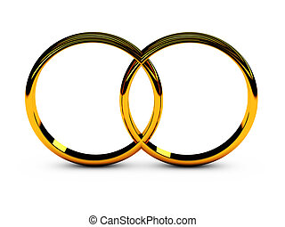 wedding rings - two wedding rings symbol of love and loyalty