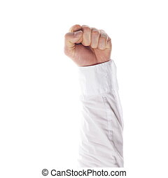 clenched fist - a clenched fist isolated on white background