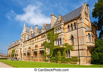 Christ Church College. Oxford, UK - Meadow Building at...