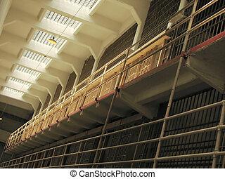 Alcatraz Prison Cells - Cells at the Alcatraz Prison (The...
