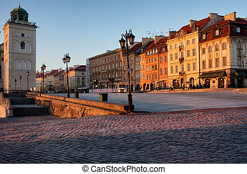 Warsaw at Sunrise - Sunrise in the city of Warsaw, Poland.