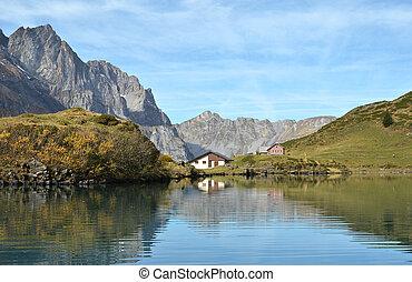 Beautiful Alpine lake Switzerland