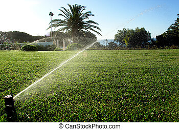 Garden irrigation system sprinkler...