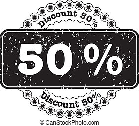Stamp Discount fifty percent