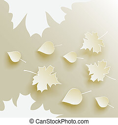 Autumn abstract background with fallen leaves