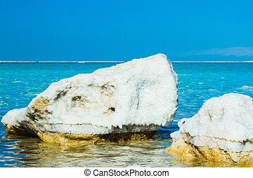 stones of the Dead Sea - beautiful photo of stones on the...